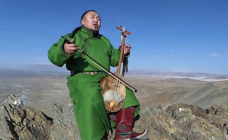 Musician On Mountain