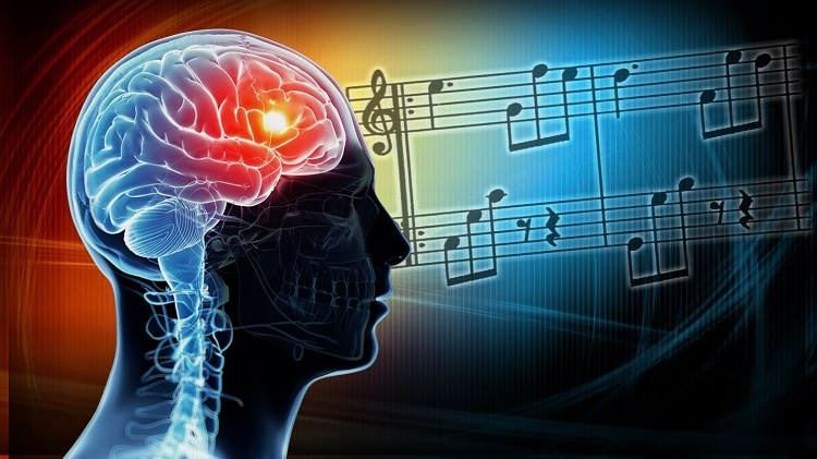 music and brain waves interaction