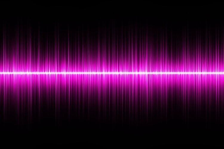 Sound Wave Of Pink Noise