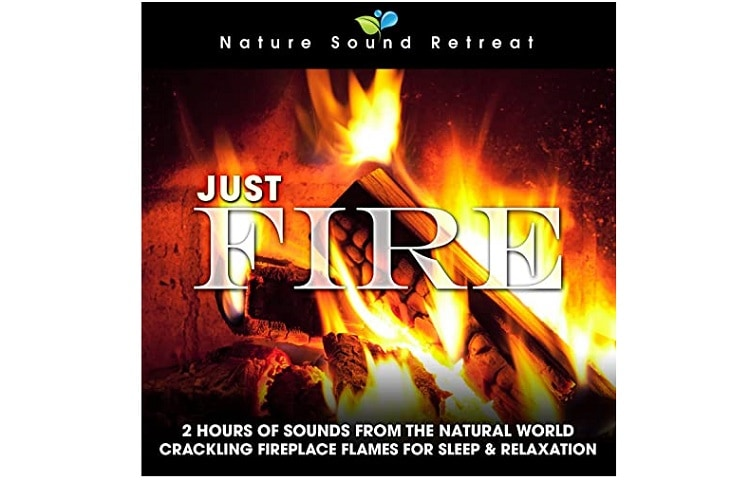 Just Fire: 2 Hours of Crackling Fireplace Flames Sound