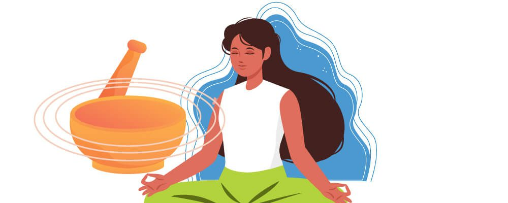 Woman having sound therapy
